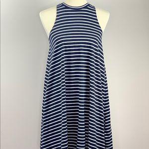 Hollister Striped Sleeveless Dress Small
